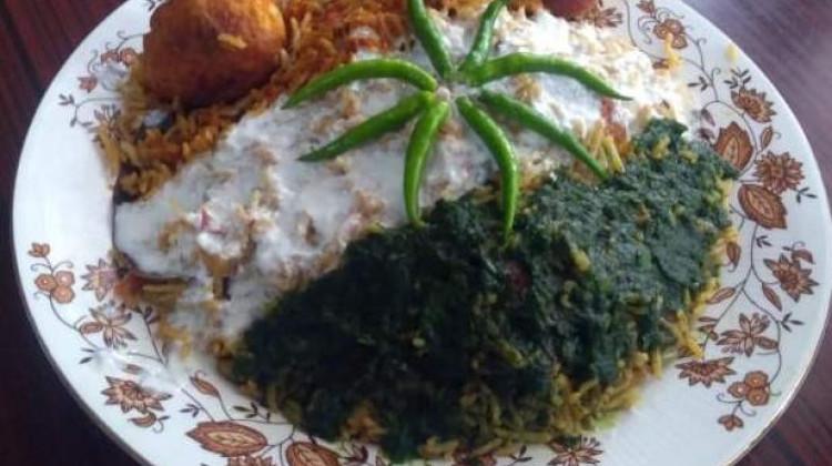 Tricolour Egg Biryani