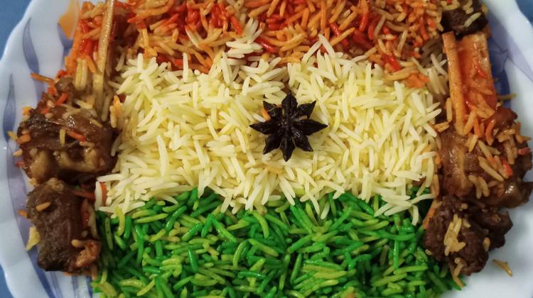 Tri Colour Mutton Biryani
