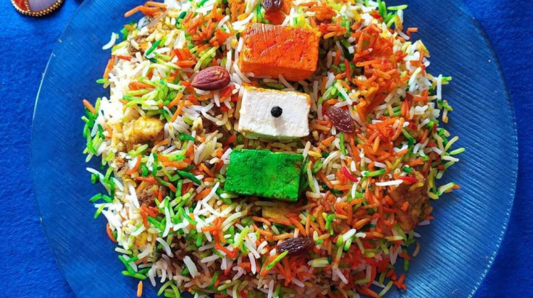 Paneer and dry fruits Pulao