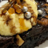 Gluten free Masoor dal brownie with masoor dal icecream
