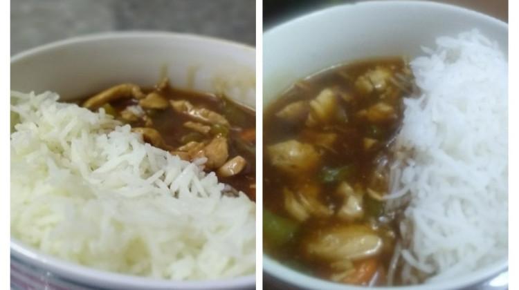 Chicken in hot garlic Sauce rice bowl